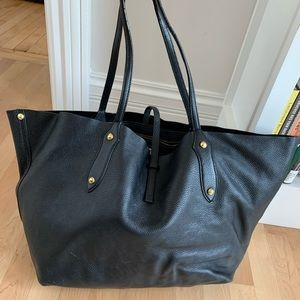 Annabel Ingall - large Isabella tote in black